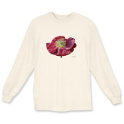One sparkling pink poppy is all this tee needs to give a bright and cheery day!