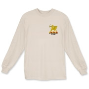 6th Field Artillery - Light Color, Long Sleeve T-Shirts. Front & Back Insignia. Available in 7 Light Colors.