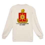 171st Field Artillery - Light Color, Long Sleeve T-Shirts. Front & Back Insignia. Available in 7 Light Colors.