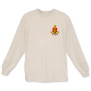 158th Artillery, MLRS - Light Color Long Sleeve T-Shirts: Front & Back Insignia, Available in 8 Light Colors.