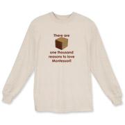Promote your love of Montessori education with this fun design, featuring the iconic thousand cube of Montessori's math curriculum!  Designed by South Carolina artisan and Montessori Directress, Amy Kuhl Cox.