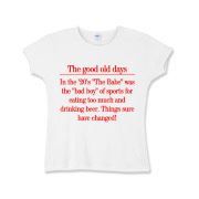 Good Old Days Girls Baby Rib T-Shirt
