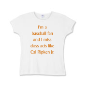Miss Cal Ripken Girls Baby Rib T-Shirt