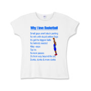 Why I Love Basketball Girls Baby Rib T-Shirt