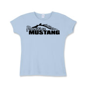 Adorable Girls Baby Rib T-Shirt features our popular Prestige Mustang Bold Logo design on the front