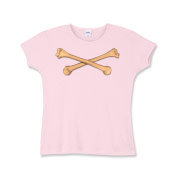 Personal Crossbones Girls Baby Rib T-Shirt