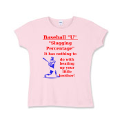 Slugging Percentage Girls Baby Rib T-Shirt