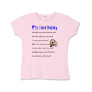 Why I Love Hockey Girls Baby Rib T-Shirt