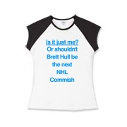 Brett Hull for Commish Girls Cap Sleeve T-Shirt