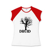 Are you a Pagan who follows the Druid Path? Here is your t-shirt with a tree growing from the word Druid. Available in light and darks shirts and other fine casual wear.