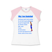 Why I Love Basketball Girls Cap Sleeve T-Shirt