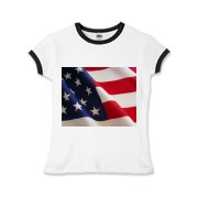 OLD GLORY -  Girls Ringer T-Shirt