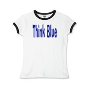 Send the kids out on the campaign trail with a Think Blue t-shirt or sweatshirt.