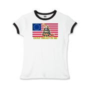 Don't Tread on me- Revolutionary Girls Ringer T-Sh