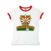 Bushwood Country Club t-shirt design featuring a classy coat of arms from the movie Caddyshack and the wily gopher that made this movie and Bill Murray a cult classic comedy film. A wonderful t-shirt for any die hard comedy fan or 80's fan. Now available