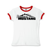 Sassy Girls Ringer T-Shirt features our popular Prestige Mustang Bold Logo design on the front