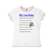 Why I Love Hockey Girls Ringer T-Shirt