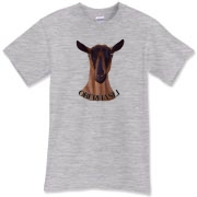 wonderful oberhasli dairy goat design on this high quality preshrunk Tee
