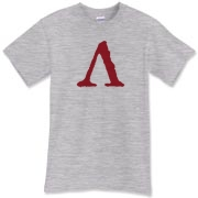 The Sparta symbol t-shirt shows the upside-down V in brutal blood red. This is the perfect Spartan t shirt for bone-crushing workouts; it reminds you who went before and what they gave. Murchada Outfitters embraces the Spartan ideals.