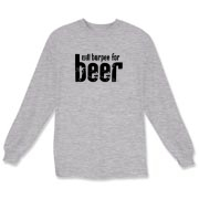 Will Burpee For Beer Long Sleeve T-Shirt