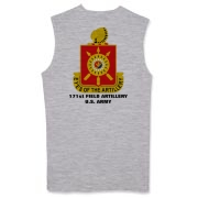 171st Field Artillery - Light Color, Muscle T-Shirts. Front & Back Insignia. Available in 2 Light Colors.