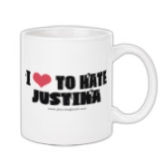 I Love To Hate Justina Coffee Mug 11oz
