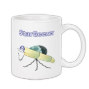This whimsical astronomer coffee mug shows an old telescope staring at the heavens, with the caption: StarGeezer. A great gift for that aging telescope enthusiast in your galaxy.