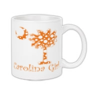 Carolina Girls and polka dots, a great combination! Get your Orange Polka Dot Carolina Girl Coffee Mug with an orange South Carolina palmetto moon.
