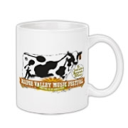 The Ossipee Valley Music Festival Acoustic Cow Large Coffee Mug 11oz
