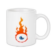 Flaming eye Coffee Mug 11oz