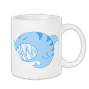 Shark Ball Blue Coffee Mug 11oz