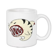 Shark Ball White Coffee Mug 11oz