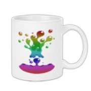 Lava Lamp Rainbow Coffee Mug 11oz