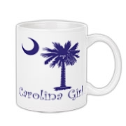 Buy a Purple Carolina Girl Coffee Mug 11oz featuring the South Carolina palmetto moon logo.