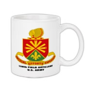 158th Artillery, MLRS - Coffee Mug, Regular: Image distortion caused by the 2D image of a curved object. Actual item image is clear and sharp.