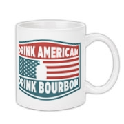 Share with everyone your love of America and it's only native spirit, Bourbon by using  our Drink American, Drink Bourbon coffee cup designed exclusively by Bourbon & Banter.