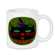Feeling a little witchy? Let your claws do the talking with this cat face wearing a wizard's hat and red letters that say Witch. It will bring a smile to those who know and keep away those who don't.