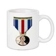 Pennies For Heroes Medal Coffee Mug 11oz