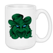 The Celtic legend of the green man lives on - on this green man large coffee mug!