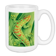 Day Gecko Large Coffee Mug 15oz