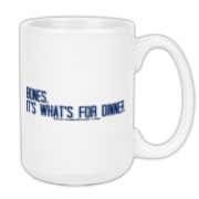 Bones.  It's what's for dinner. Large Coffee Mug 1
