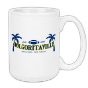 Start your day off with pouring your coffee into this Holgoritaville mug!