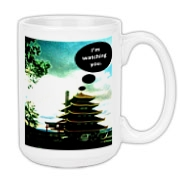 Pagoda/Flow Chart Large Coffee Mug 15oz