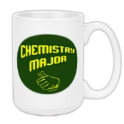 Proudly show off your college major with this clever college large coffee mug, which uses a thumb's up gesture and a big label that says: Chemistry Major.