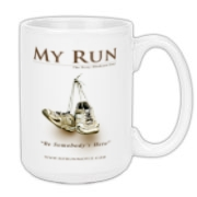 MY RUN - Design 1 Large Coffee Mug 15oz