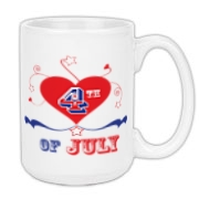 Indpendence day mugs and drinkware for July 4th celebration.