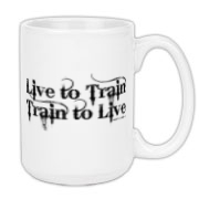 Live to Train, Train to Live Large Coffee Mug 15oz