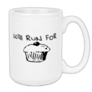 Will Run for Cake Large Coffee Mug 15oz