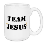 Team Jesus Block Lettering Drinkware, Christian mugs, Christian travel mugs,Christian water bottles, Christian can coolers, Jesus is Lord Great Christian Gift giving