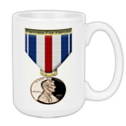 Pennies For Heroes Medal Large Coffee Mug 15oz